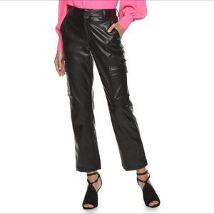 NWT APT. 9 faux leather cargo pant Final price